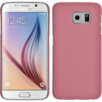 Hardcase Galaxy S6 gummiert rosa + 2 Schutzfolien