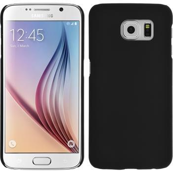 Hardcase Galaxy S6 gummiert schwarz + 2 Schutzfolien