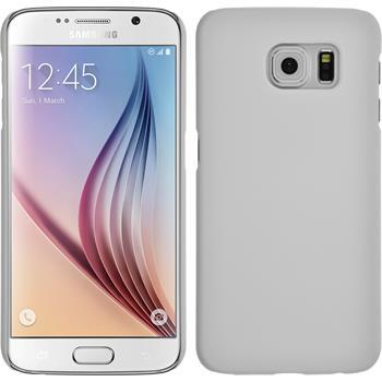 Hardcase Galaxy S6 gummiert weiß + 2 Schutzfolien