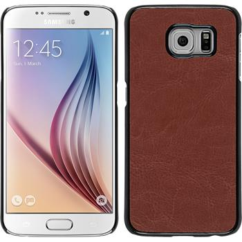 Hardcase for Samsung Galaxy S6 leather optics brown