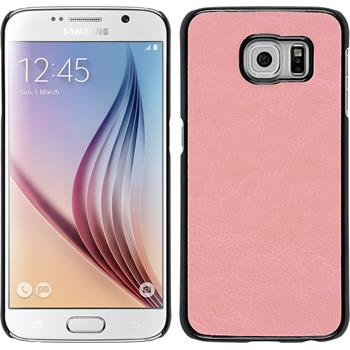 Hardcase for Samsung Galaxy S6 leather optics pink