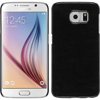 Hardcase Galaxy S6 Lederoptik schwarz