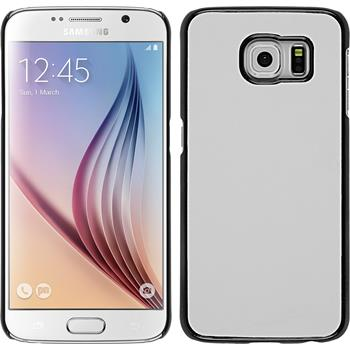 Hardcase for Samsung Galaxy S6 leather optics white