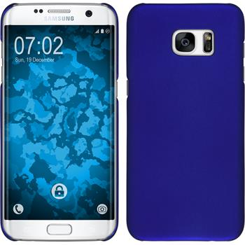 Hardcase Galaxy S7 Edge gummiert blau