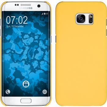 Hardcase für Samsung Galaxy S7 Edge gummiert gelb