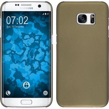 Hardcase für Samsung Galaxy S7 Edge gummiert gold