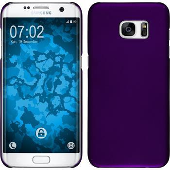 Hardcase für Samsung Galaxy S7 Edge gummiert lila