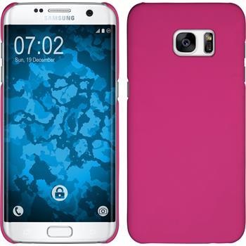 Hardcase Galaxy S7 Edge gummiert pink