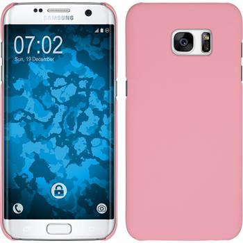 Hardcase für Samsung Galaxy S7 Edge gummiert rosa
