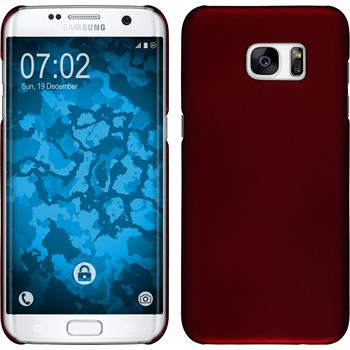 Hardcase Galaxy S7 Edge gummiert rot