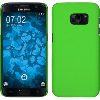 Hardcase für Samsung Galaxy S7 gummiert grün