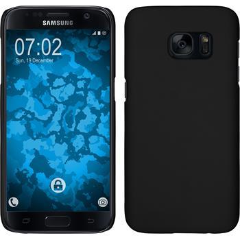 Hardcase für Samsung Galaxy S7 gummiert schwarz
