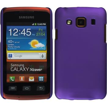 Hardcase for Samsung Galaxy Xcover rubberized purple