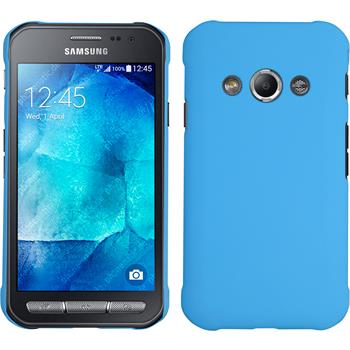 Hardcase Galaxy Xcover 3 gummiert hellblau + 2 Schutzfolien