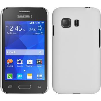 Hardcase für Samsung Galaxy Young 2 gummiert weiß