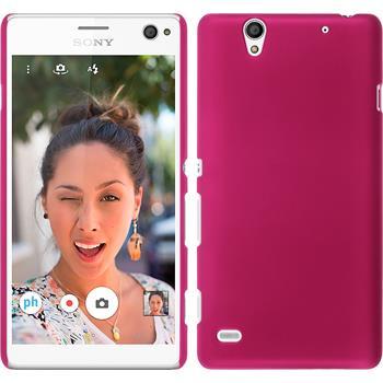 Hardcase Xperia C4 / Dual gummiert pink