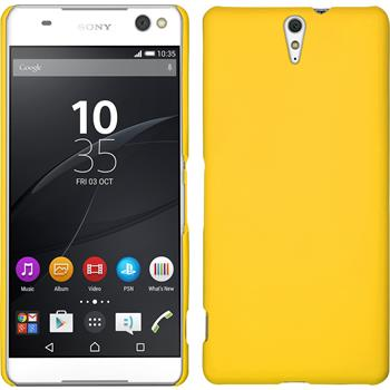 Hardcase Xperia C5 Ultra gummiert gelb