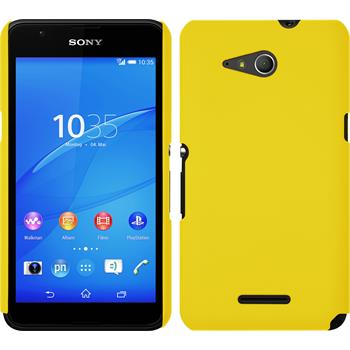 Hardcase for Sony Xperia E4g rubberized yellow