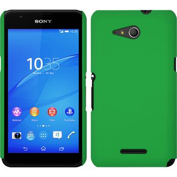 Hardcase for Sony Xperia E4g rubberized green