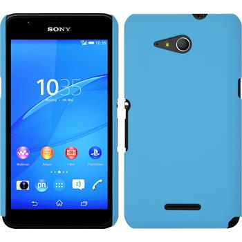 Hardcase for Sony Xperia E4g rubberized light blue