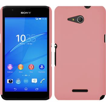 Hardcase for Sony Xperia E4g rubberized pink