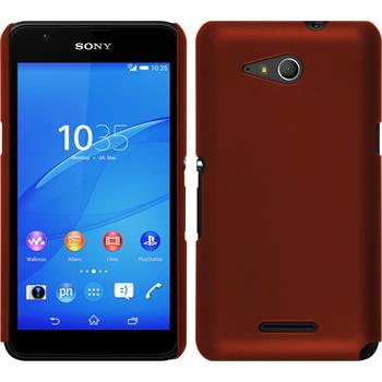 Hardcase for Sony Xperia E4g rubberized red