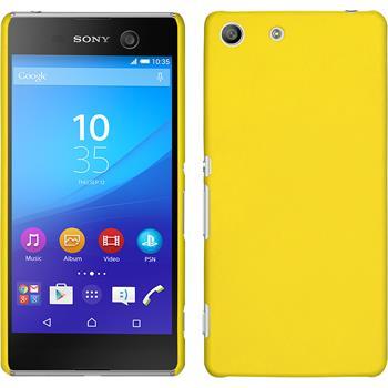 Hardcase für Sony Xperia M5 gummiert gelb