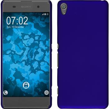 Hardcase Xperia XA gummiert blau