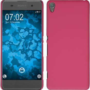 Hardcase Xperia XA gummiert pink