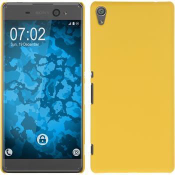Hardcase Xperia XA Ultra gummiert gelb