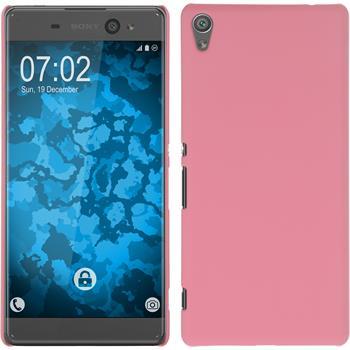Hardcase Xperia XA Ultra gummiert rosa