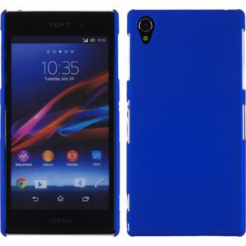 Hardcase für Sony Xperia Z1 gummiert blau