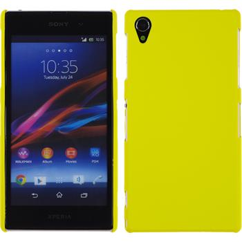 Hardcase für Sony Xperia Z1 gummiert gelb