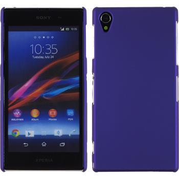 Hardcase für Sony Xperia Z1 gummiert lila