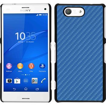 Hardcase Xperia Z3 Compact Carbonoptik blau