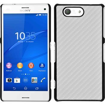 Hardcase für Sony Xperia Z3 Compact Carbonoptik weiß