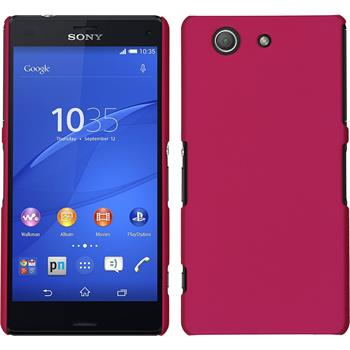 Hardcase Xperia Z3 Compact gummiert pink