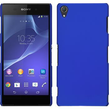 Hardcase für Sony Xperia Z3 gummiert blau