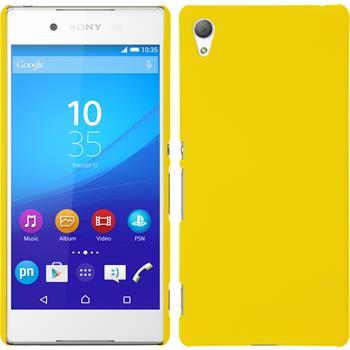 Hardcase für Sony Xperia Z3+ / Plus gummiert gelb