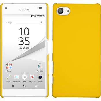 Hardcase Xperia Z5 Compact gummiert gelb