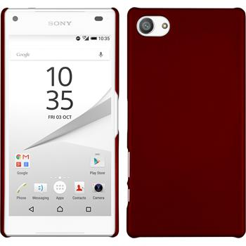 Hardcase Xperia Z5 Compact gummiert rot