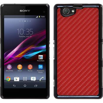 Hardcase Xperia Z1 Compact Carbonoptik rot