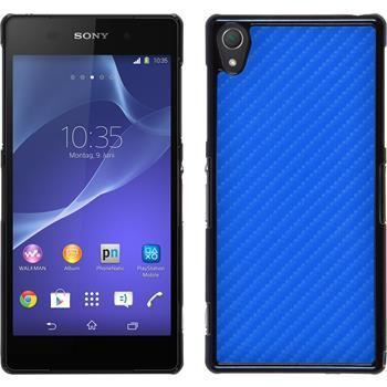 Hardcase for Sony Xperia Z2 carbon optics blue