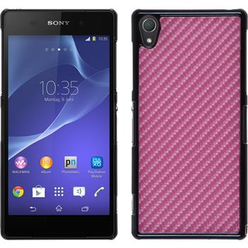 Hardcase for Sony Xperia Z2 carbon optics hot pink