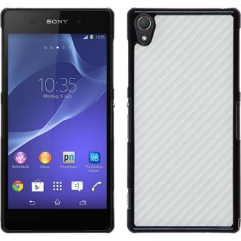 Hardcase für Sony Xperia Z2 Carbonoptik weiß