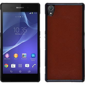Hardcase for Sony Xperia Z2 leather optics brown