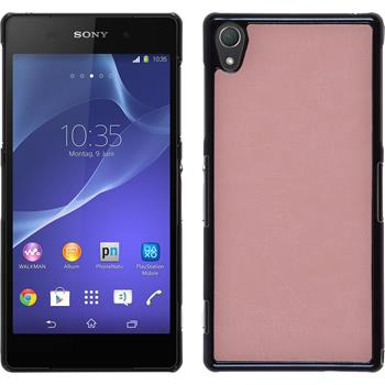 Hardcase for Sony Xperia Z2 leather optics pink