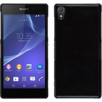 Hardcase für Sony Xperia Z2 Lederoptik schwarz