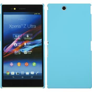 Hardcase für Sony Xperia Z Ultra gummiert hellblau