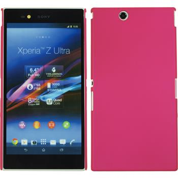 Hardcase for Sony Xperia Z Ultra rubberized hot pink
